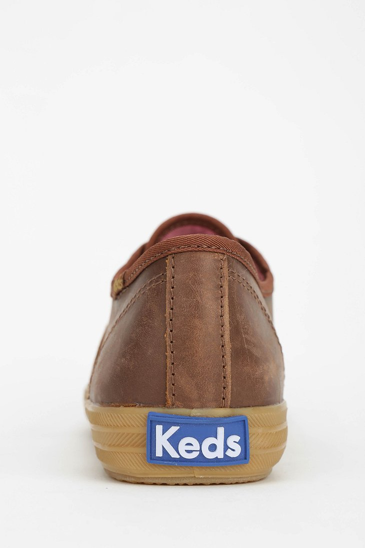 Keds Champion Caramel Leather Sneaker In Brown Lyst