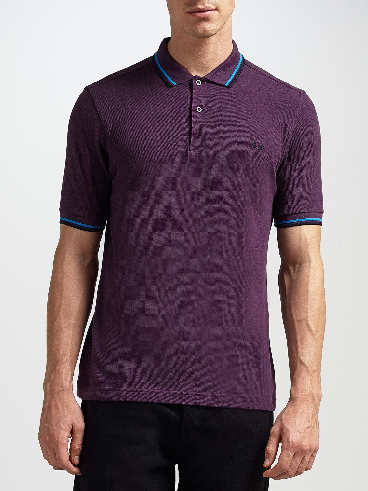 lyst fred perry twin tipped polo shirt in purple for men. Black Bedroom Furniture Sets. Home Design Ideas
