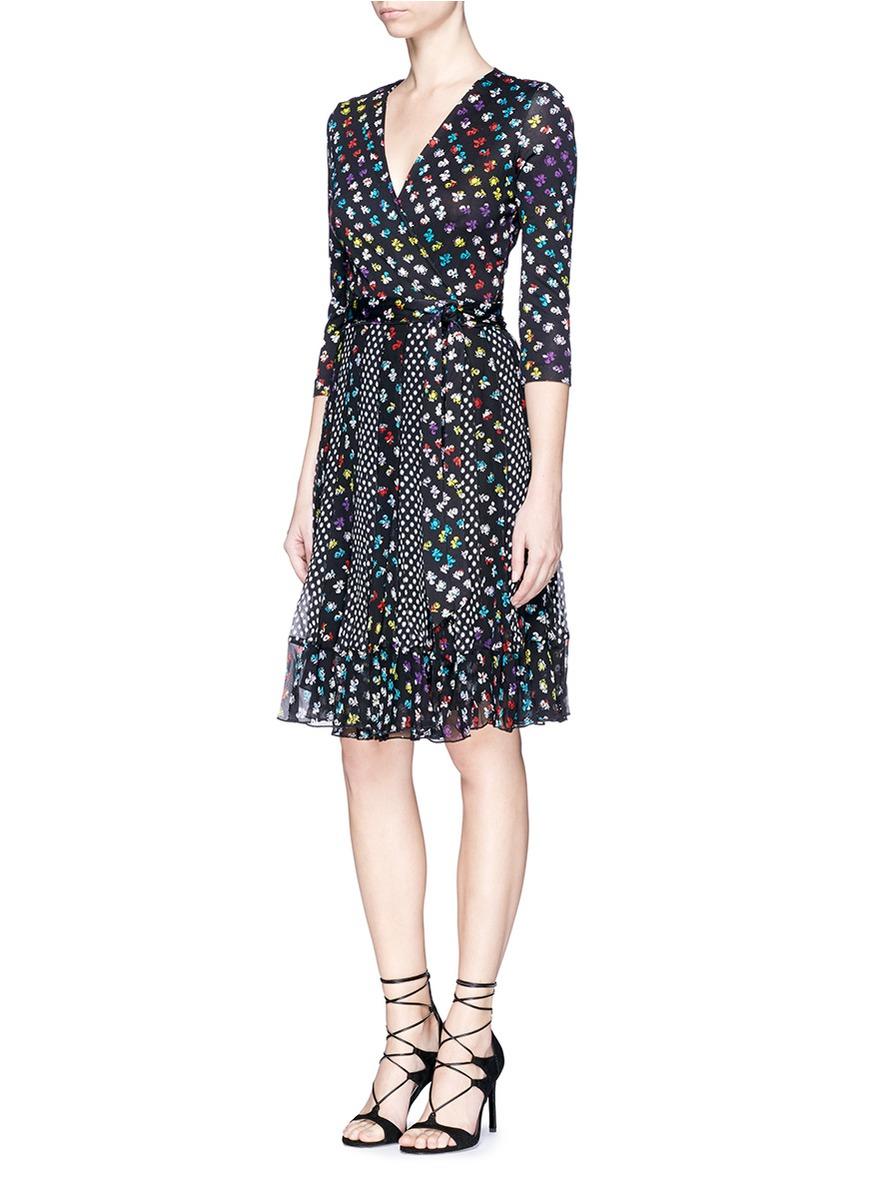 Diane Von Furstenberg Caprice Printed Jersey And Silk