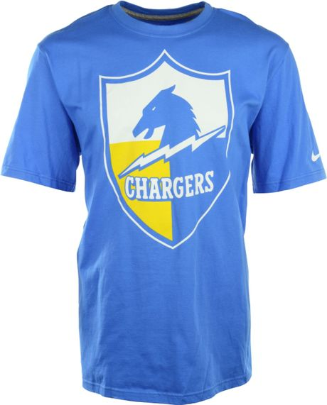 San Diego Chargers Apparel Sale: Nike Men'S San Diego Chargers Retro Oversized Logo T-Shirt