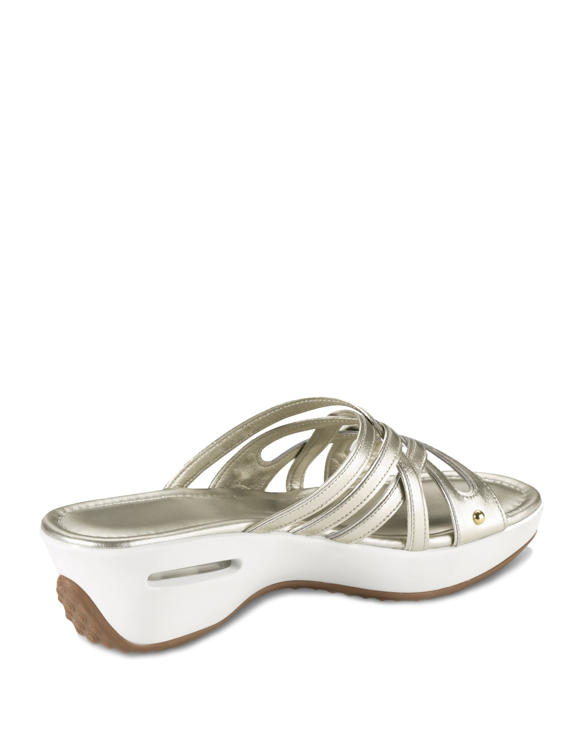 f9cfe9d1f5c Lyst - Cole Haan Air Ezra Strappy Wedge in White