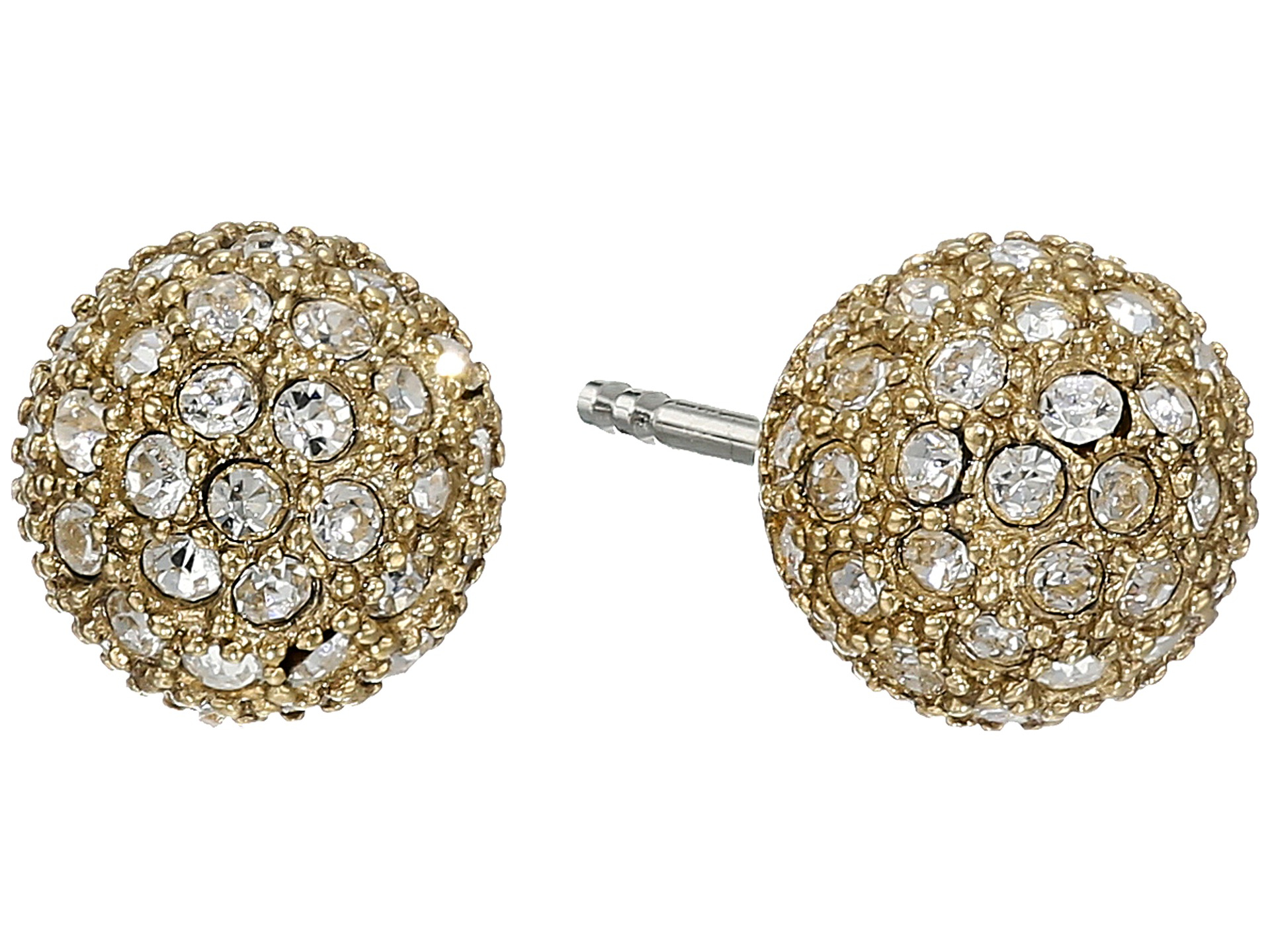 Fossil Pave Ball Studs Earrings in Metallic