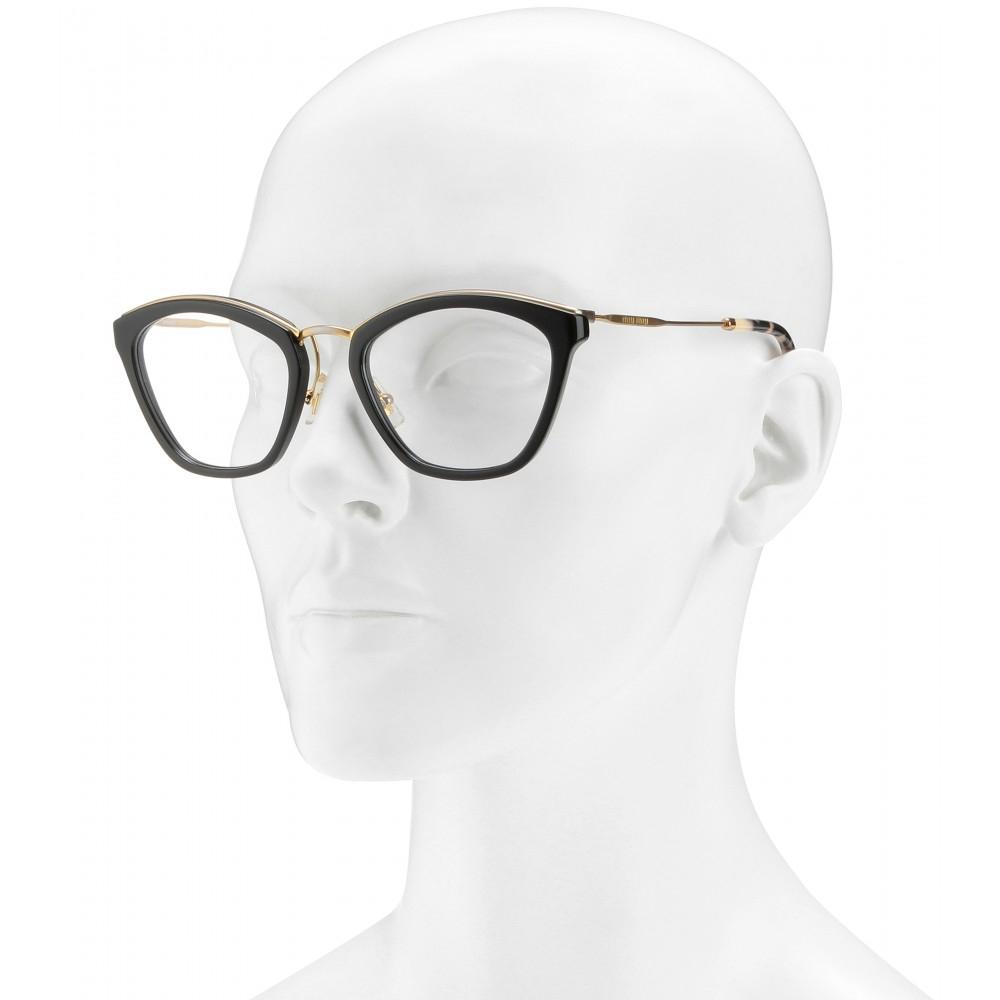 Lyst - Miu Miu Cat-Eye Optical Glasses in Metallic