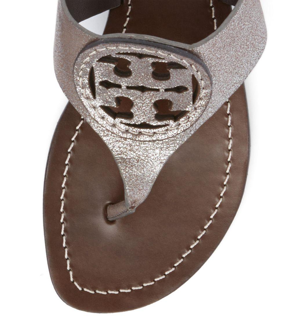 Gallery - Tory Burch Louisa Flat Thong Sandal In Metallic Lyst