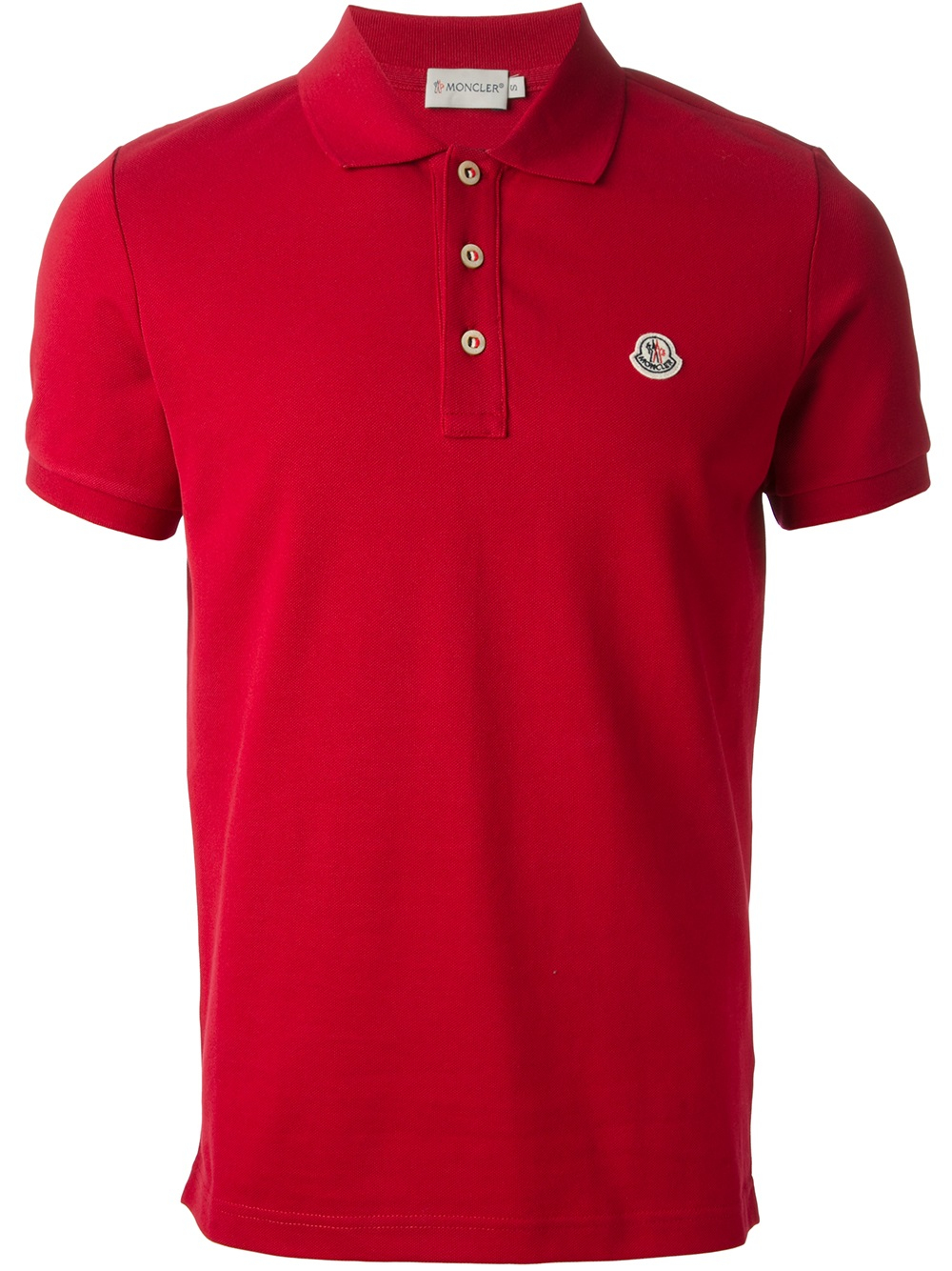 Moncler Polo Shirt In Red For Men Lyst