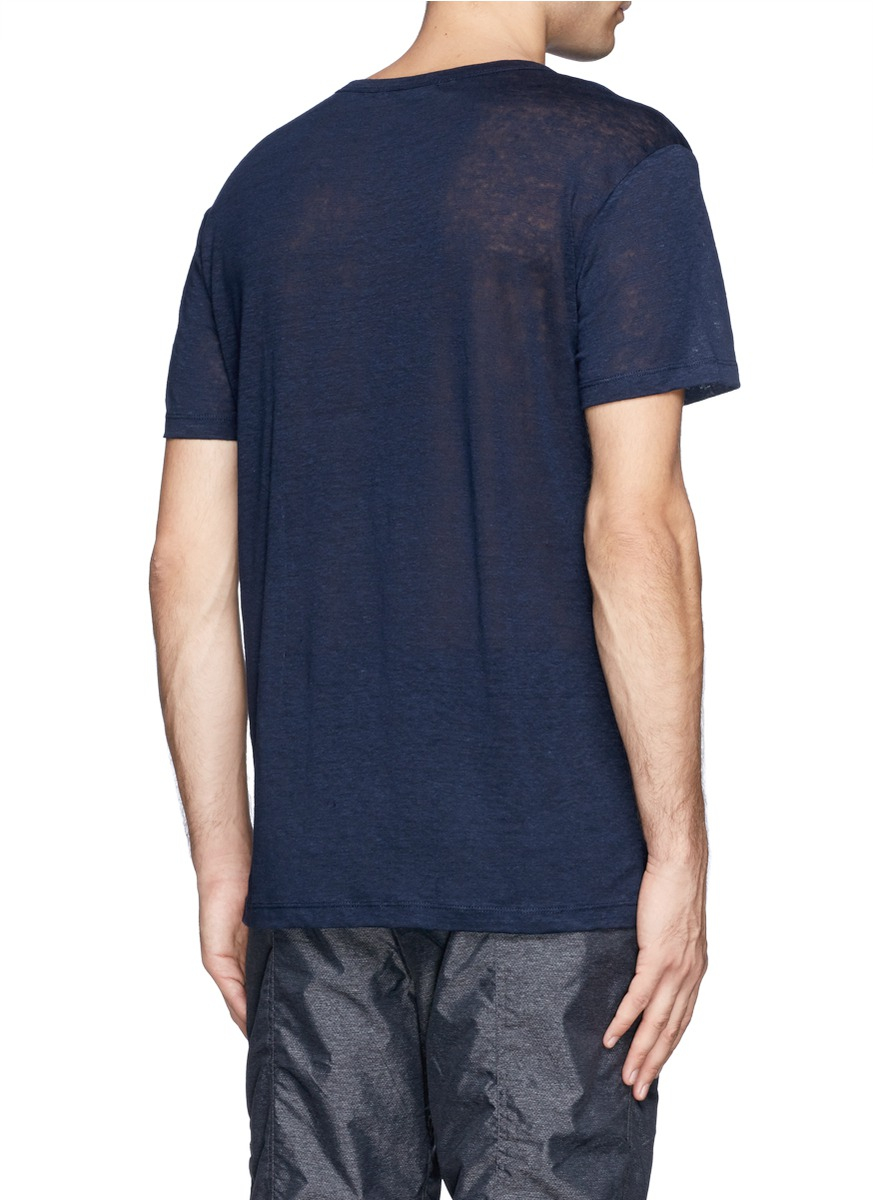 T by alexander wang jersey t shirt in blue for men lyst for T by alexander wang t shirt