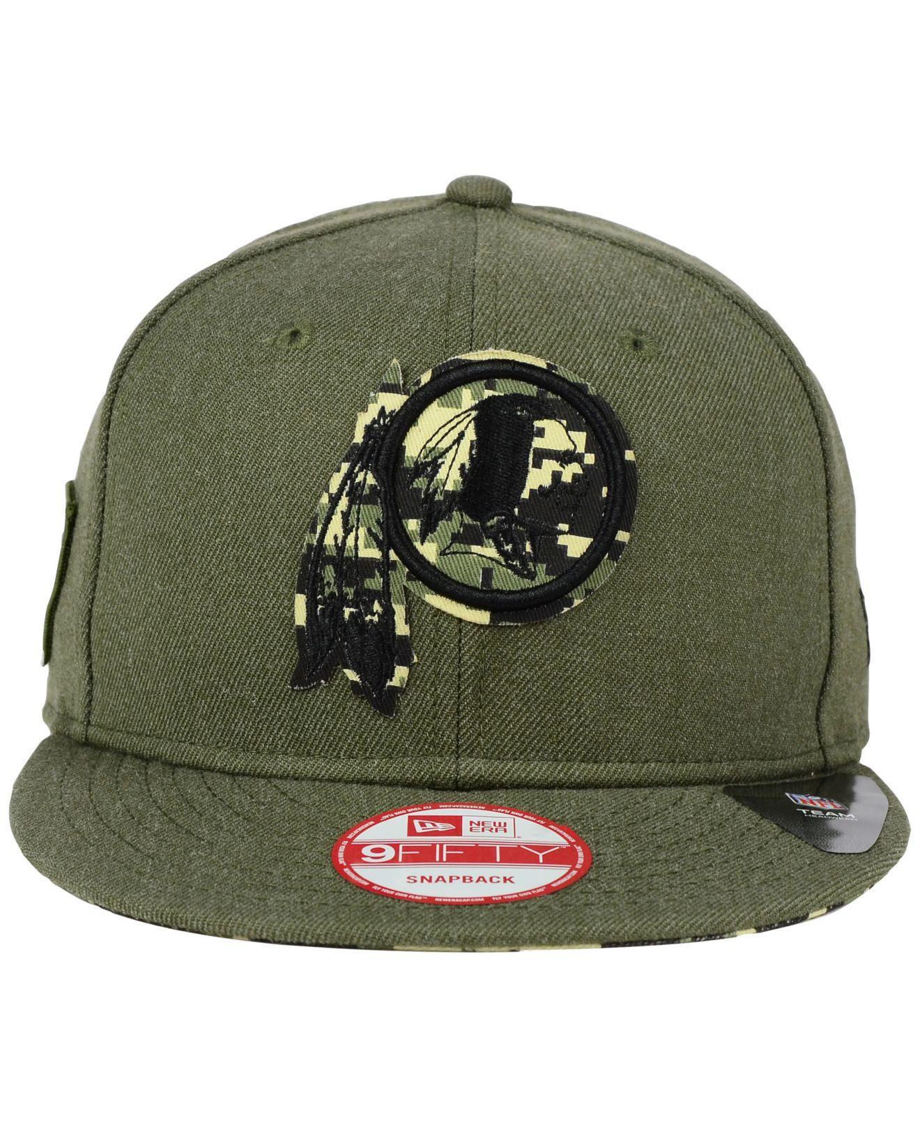 fdc6d58c6fe Lyst - KTZ Washington Redskins Camo 9fifty Snapback Cap in Green for Men