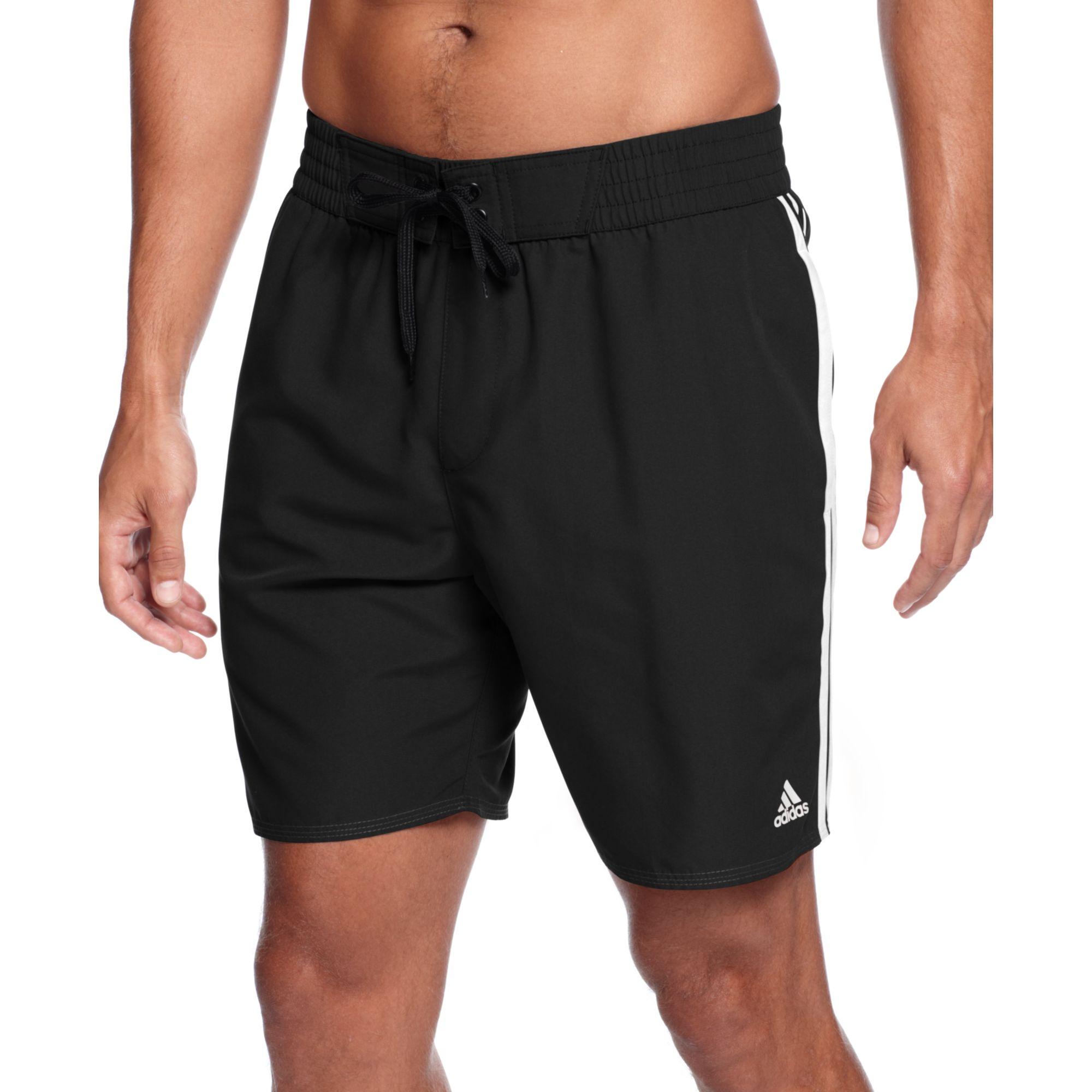 3935e2b30c6a9 adidas Core Icon Adi Volley Swim Shorts in Black for Men - Lyst