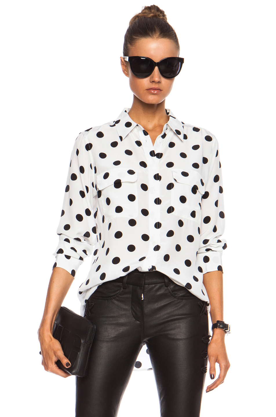 Black And White Check Shirt Women