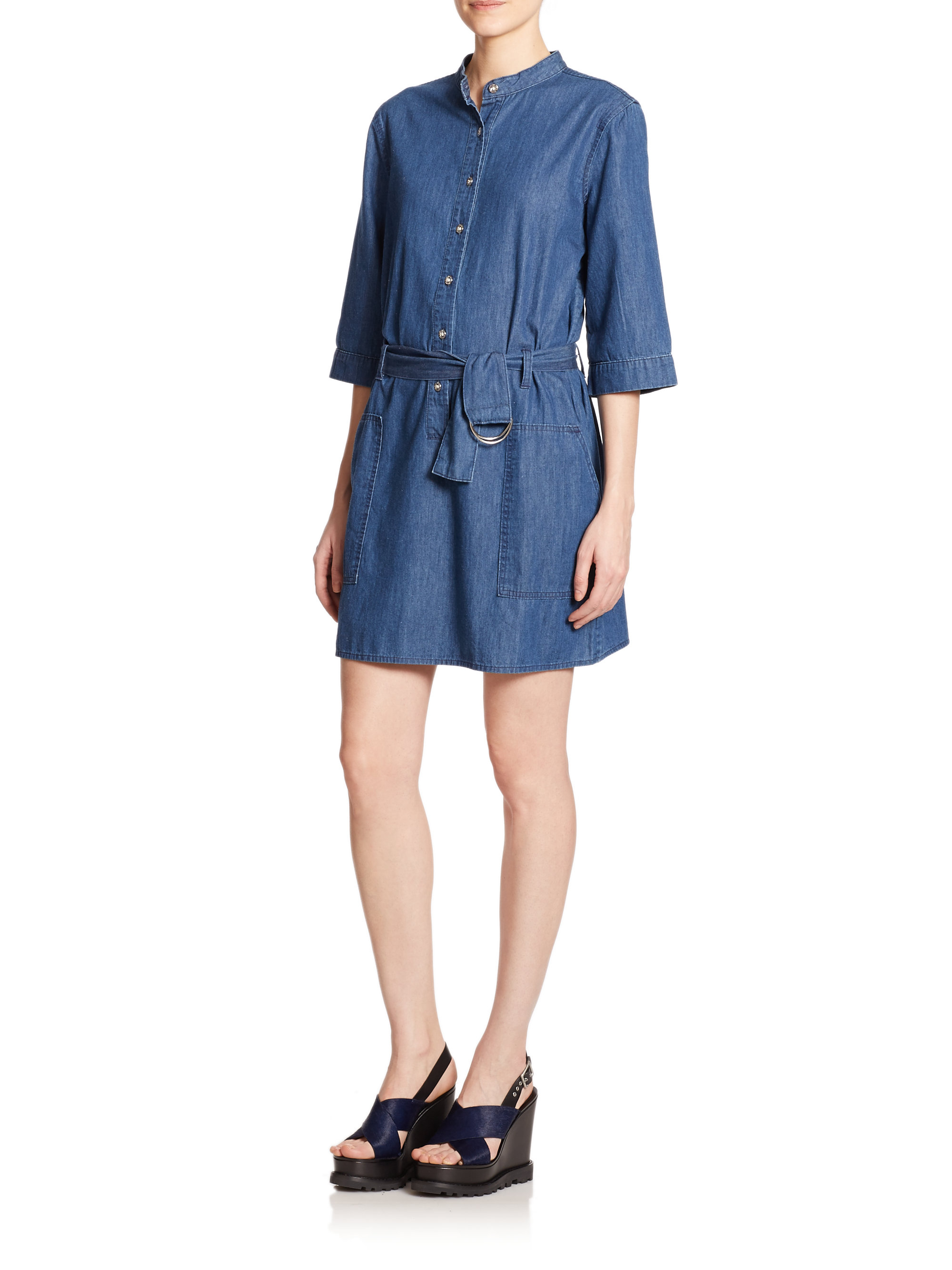 7663f34065 Lyst - Marc By Marc Jacobs Denim Shift Dress in Blue