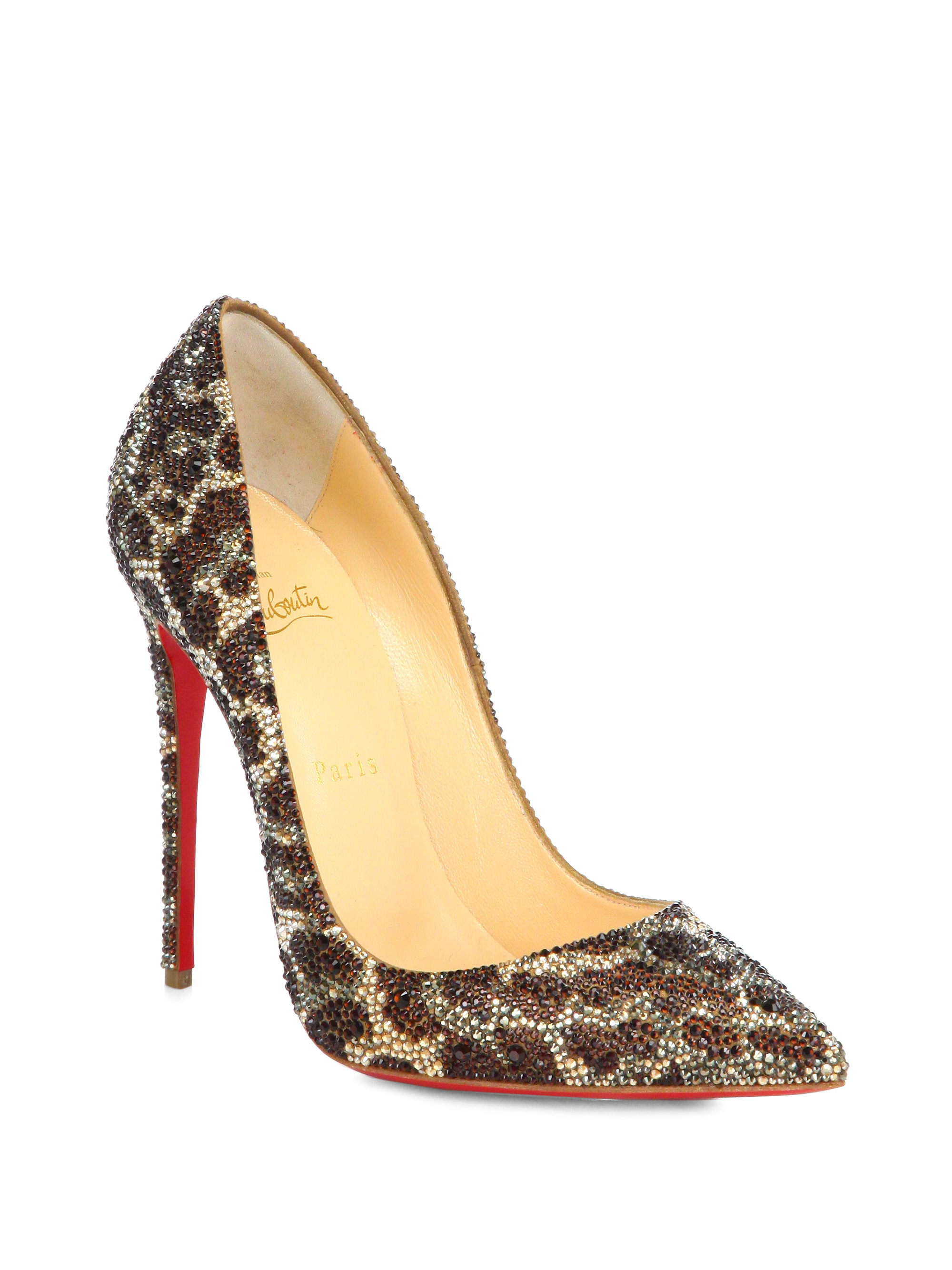 Christian louboutin So Kate Leopard-Print Crystal Pumps