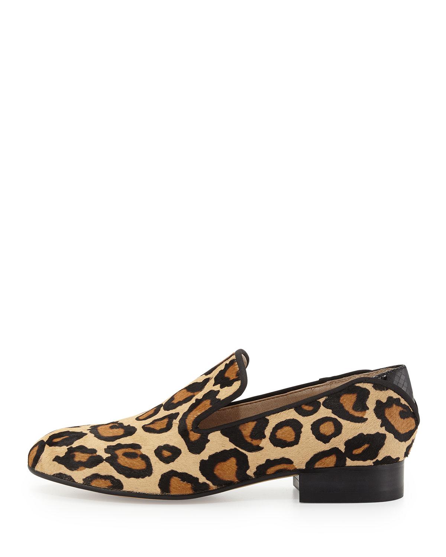 2c7579bd8 Lyst - Sam Edelman Kalinda Leopard-Print Calf Hair Loafer