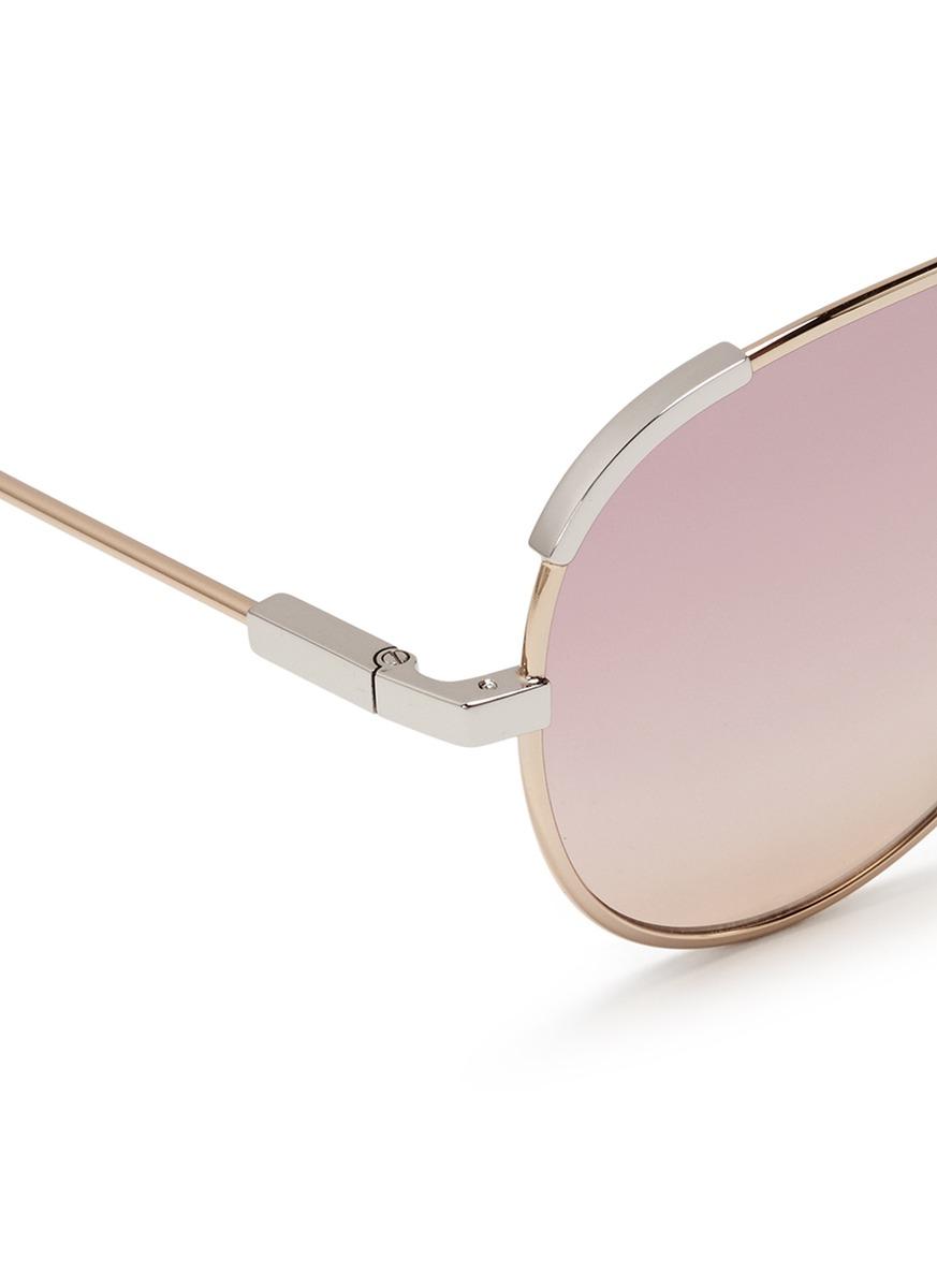 Chloe Aviator Sunglasses  chloé grant metal aviator sunglasses in pink lyst