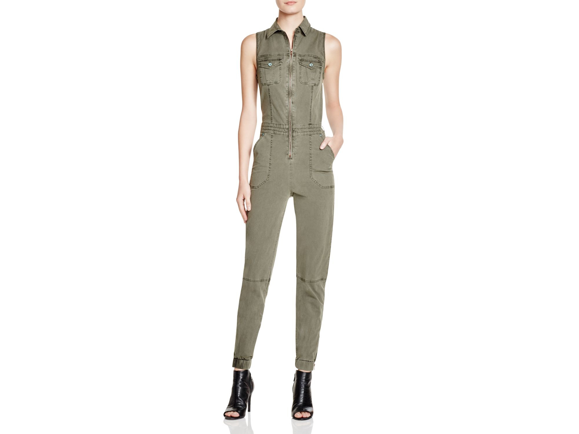 d2d1a5967d4 Lyst - Guess Military Cargo Jumpsuit in Green