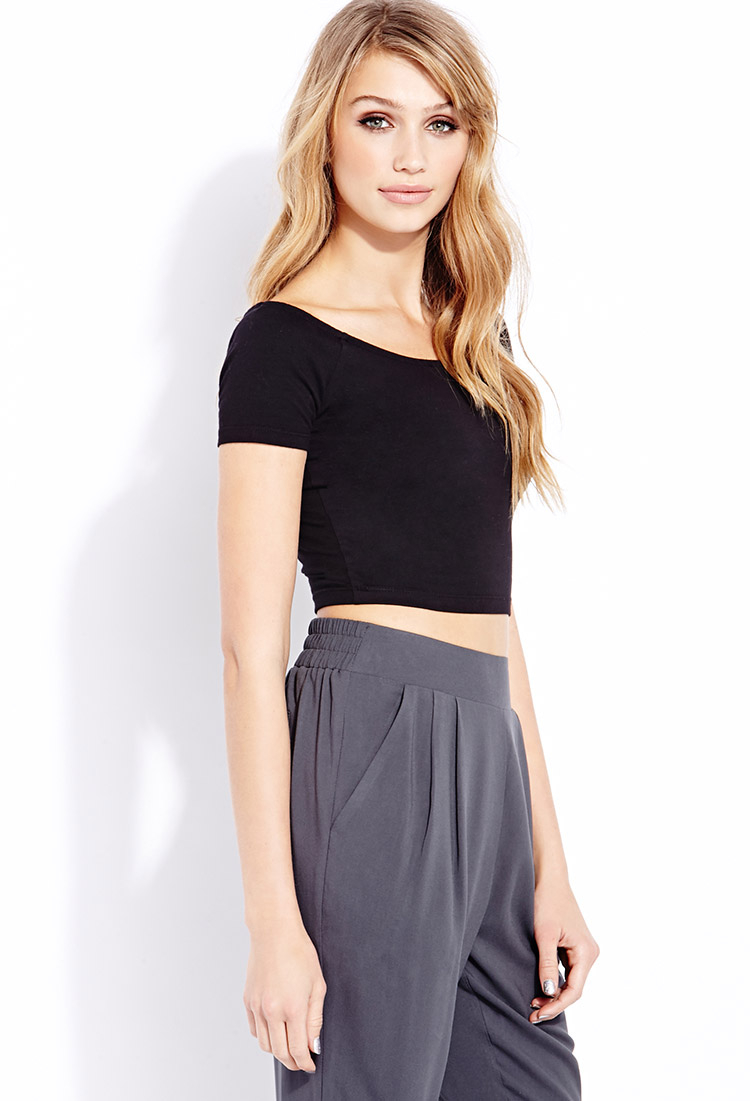 21 Best Grow Your Tarot Business Online Images On: Forever 21 Everyday Crop Top In Black