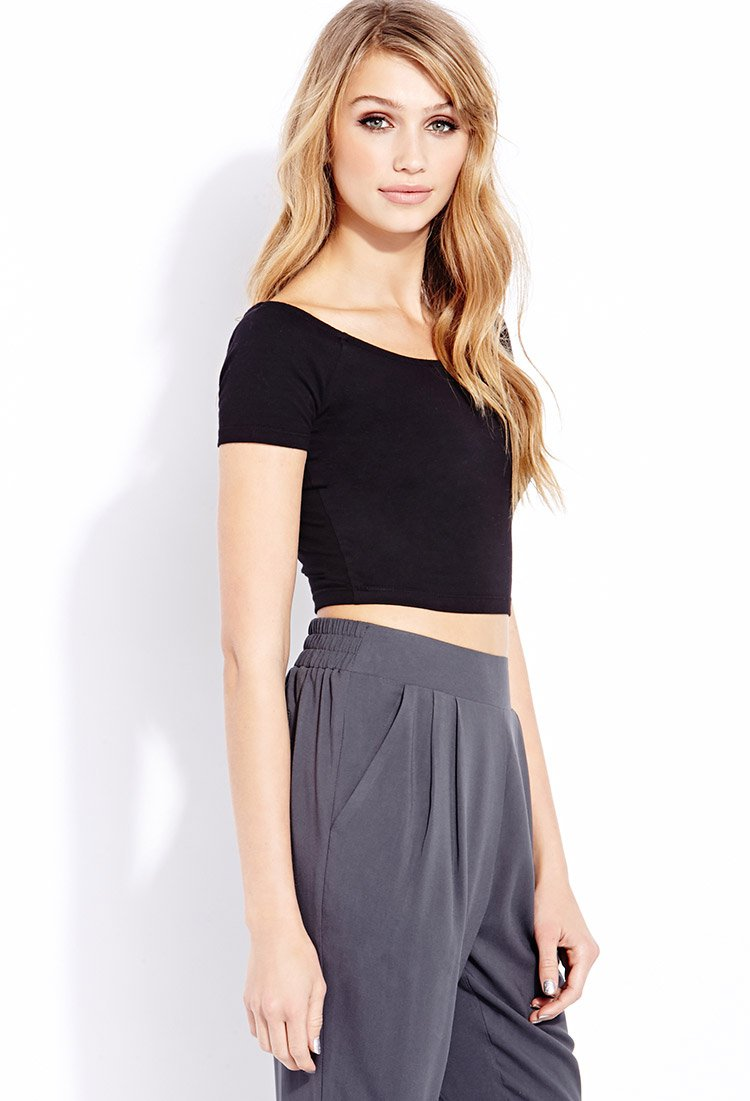 21 Best Images About Cute Boys On Pinterest: Forever 21 Everyday Crop Top In Black
