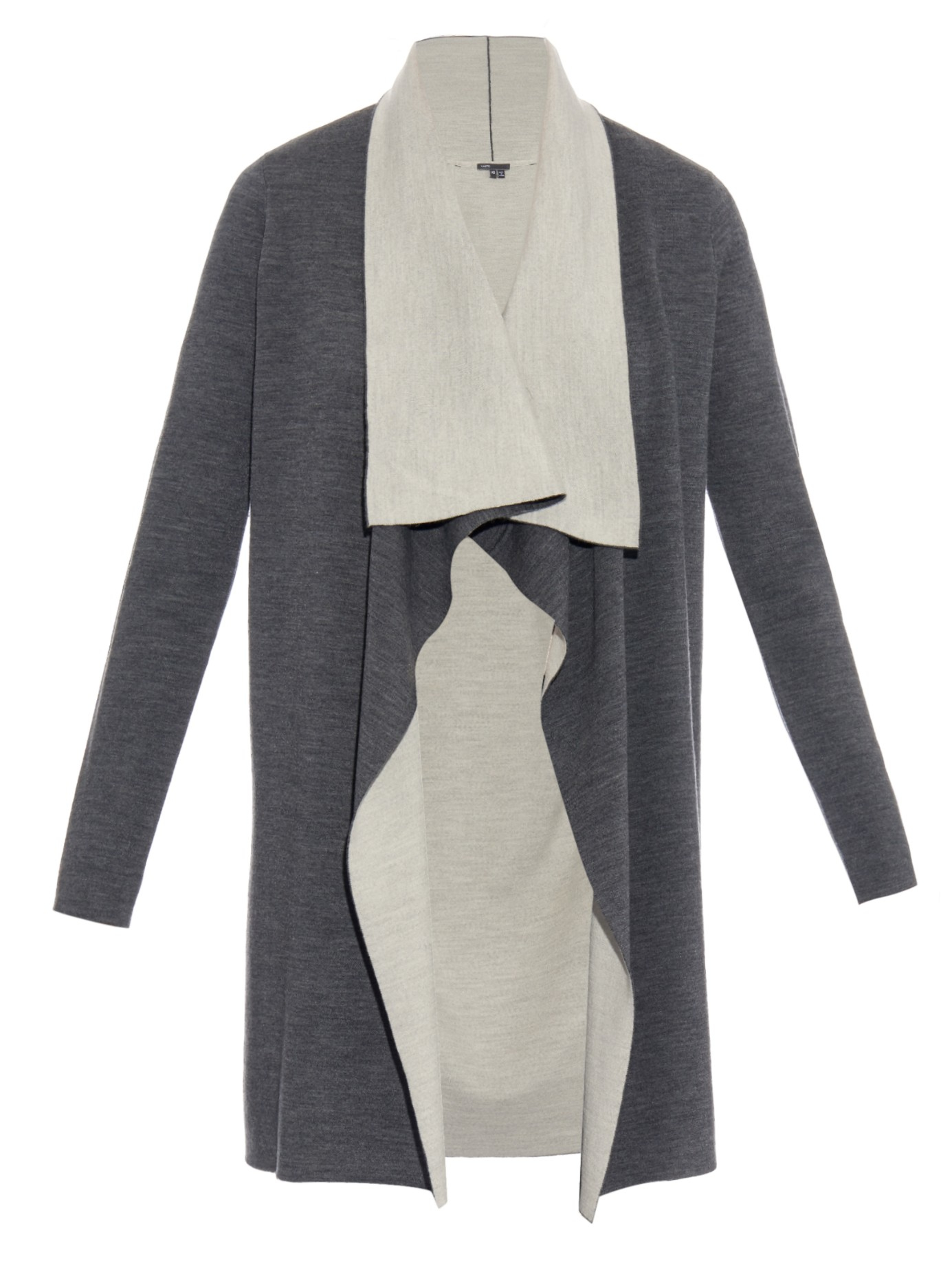 Vince Double-faced Wool-blend Cardigan in Gray | Lyst
