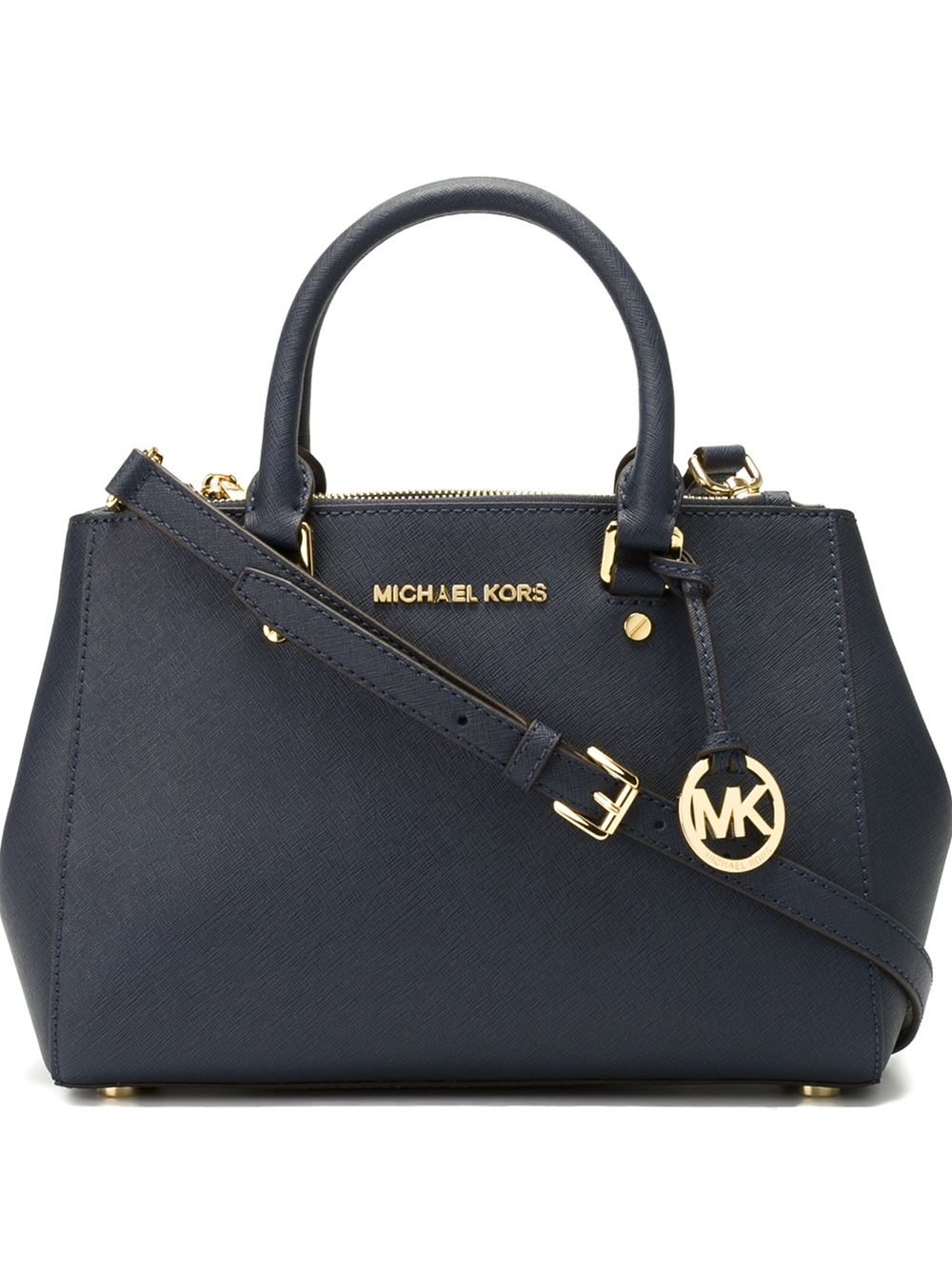 Lyst Michael Michael Kors Small Sutton Tote In Blue