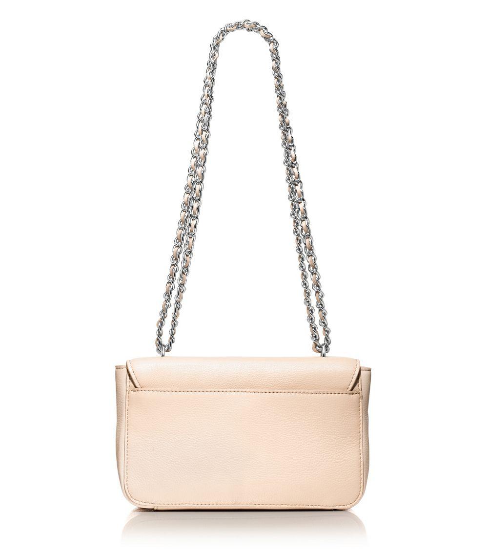 040c70dcf7a3 Tory Burch Mercer Adjustable Shoulder Bag in White - Lyst