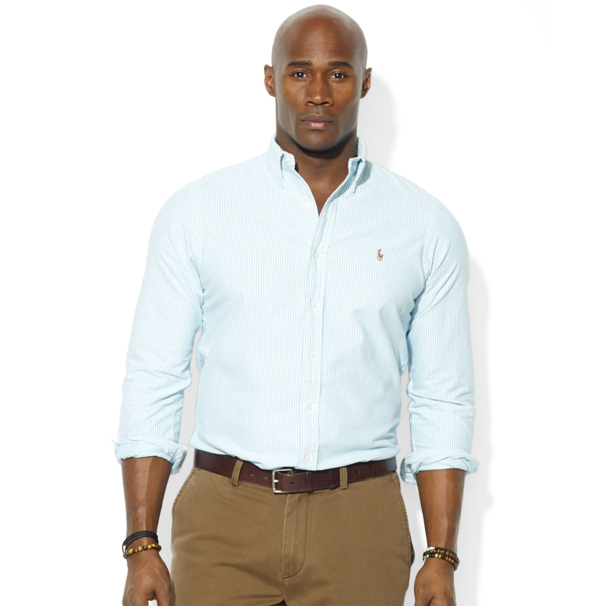 polo ralph lauren big and tall long sleeve stripe oxford