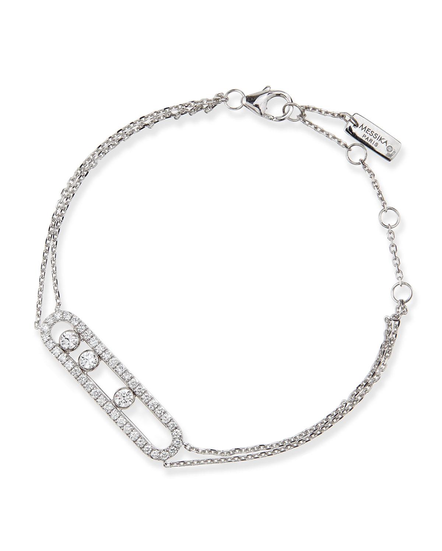 Lyst Messika 18k Sliding Diamond Bracelet In Metallic