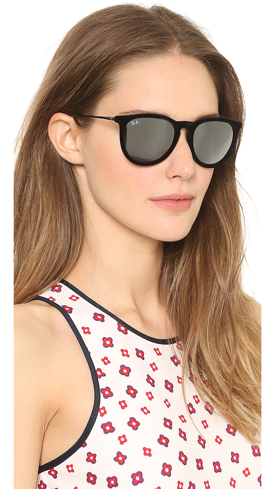 a26153c2a540d ... official store ray ban erika velvet sunglasses violet in black lyst  5a447 0a2eb