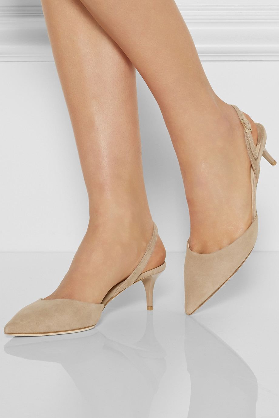 96cccafd28b38 Jimmy Choo Natural Tide Suede Slingback Pumps