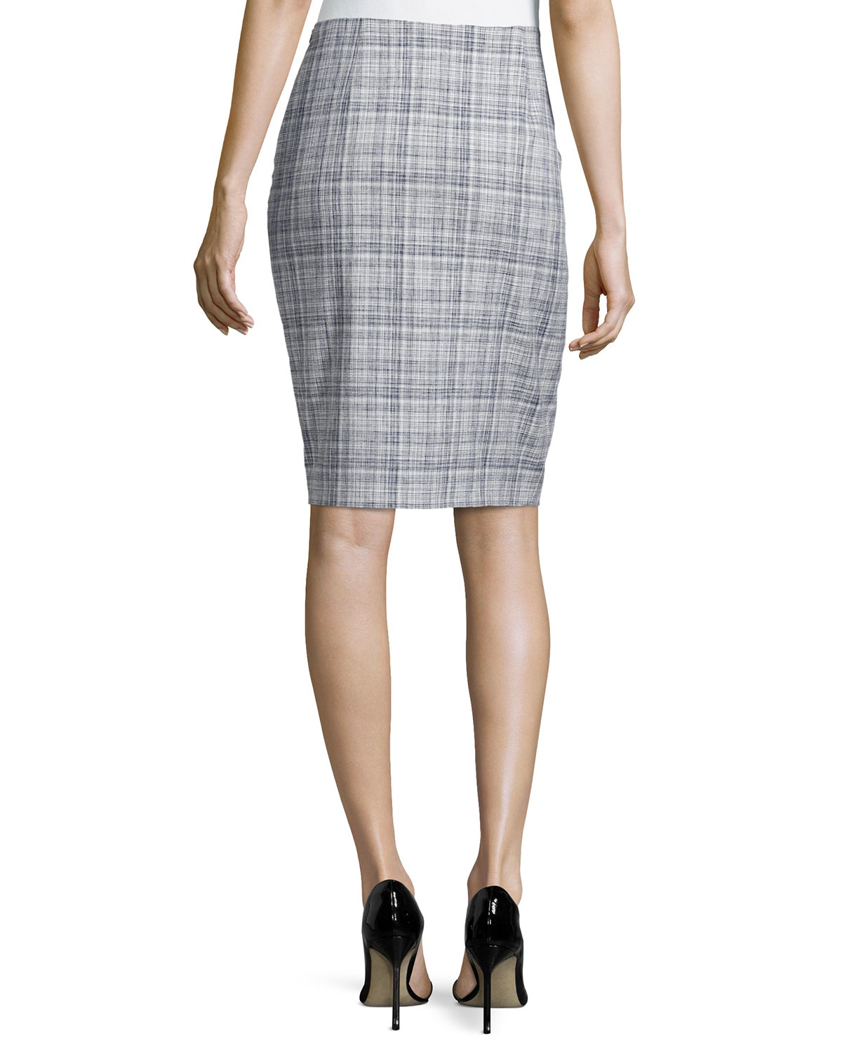 Escada Low-rise Pencil Skirt in Gray | Lyst