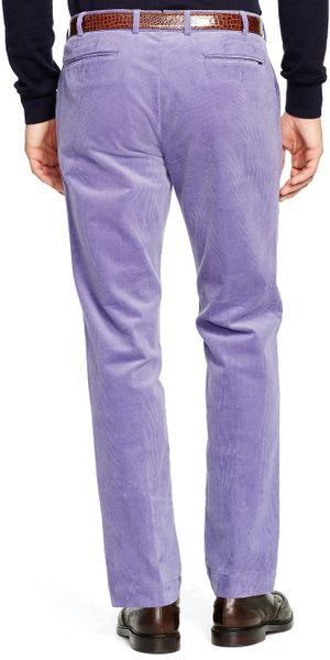 Polo Ralph Lauren Slim Fit Stretch Corduroy Pant In Purple