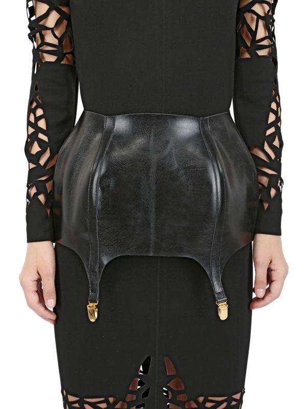murmur leather suspender belt in black lyst