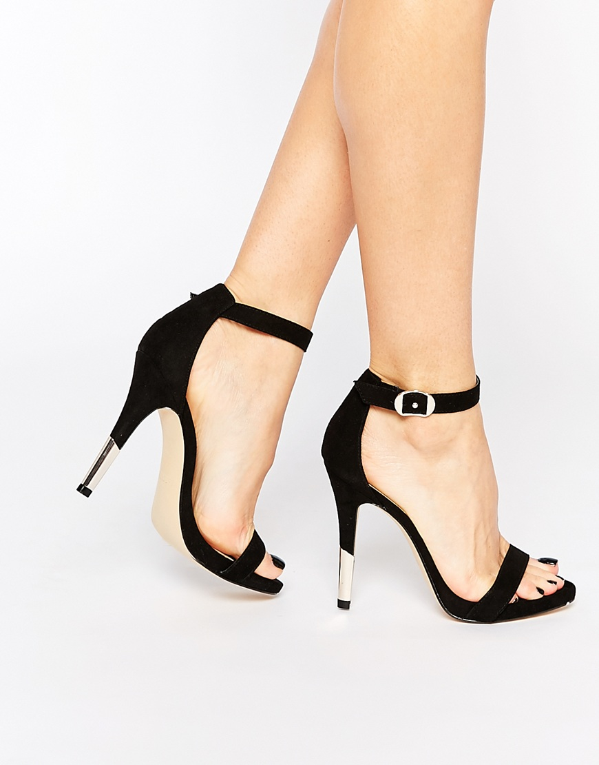 Call It Spring Fiven Strappy Barely There Heeled Sandals - Black Call It Spring 5tPt0