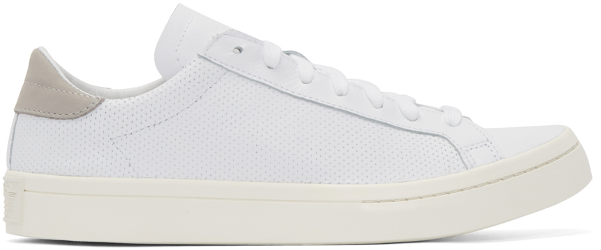 Adidas Originals Perforated Leather Court Vantage Trainers