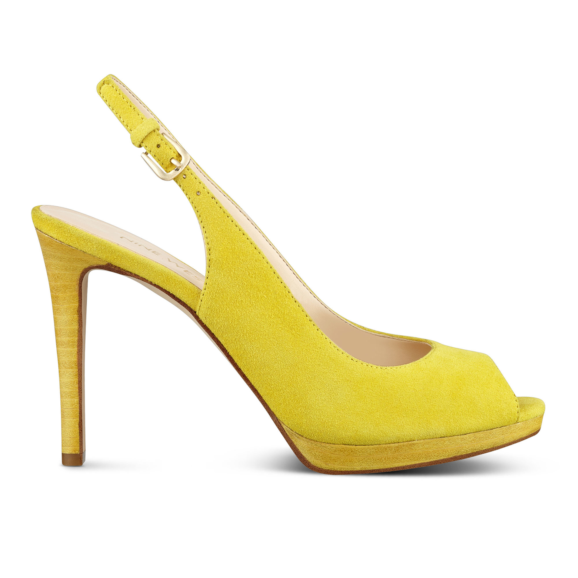 b87a6cad2be Lyst - Nine West Emilyna Slingback Pumps in Yellow