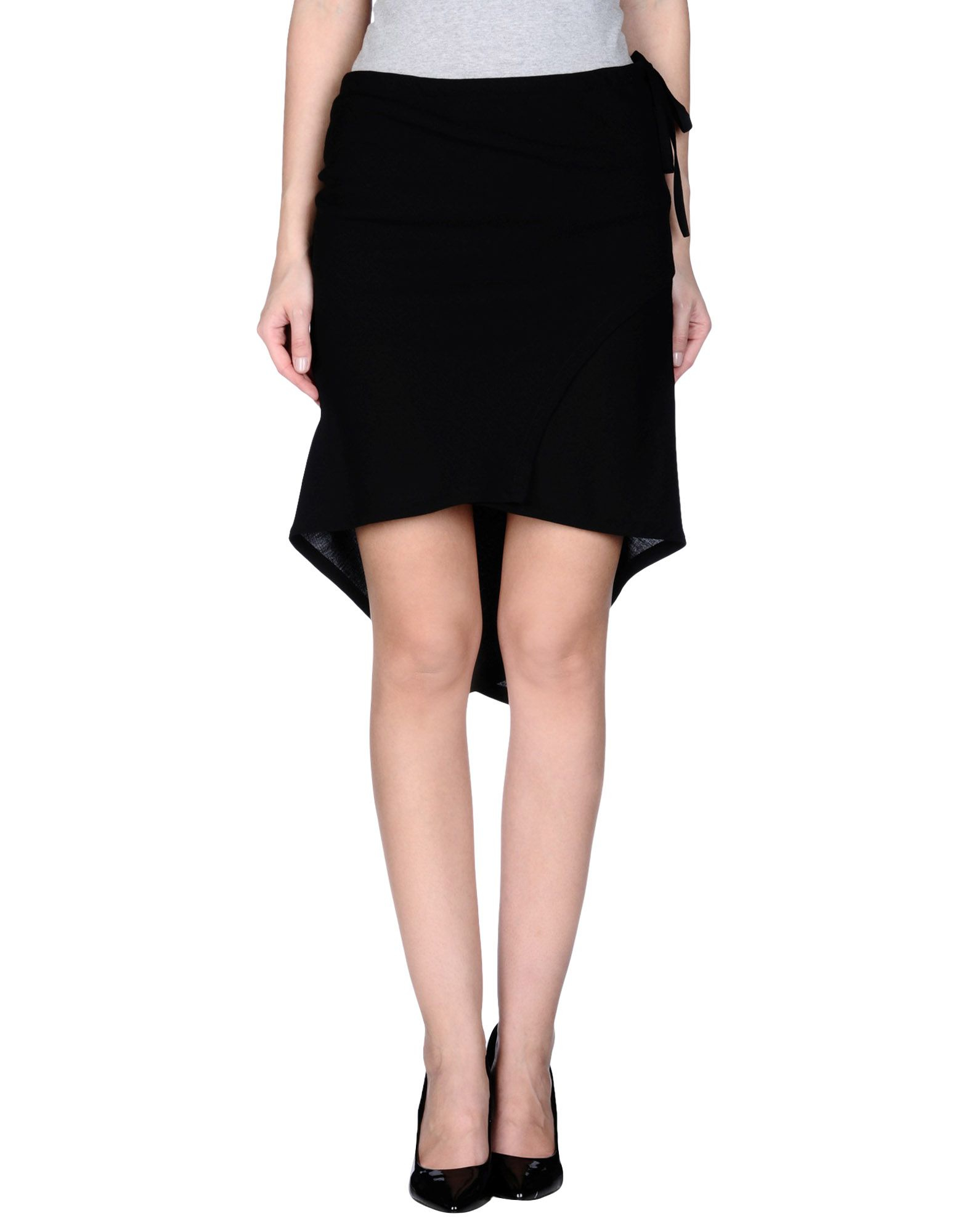 demeulemeester knee length skirt in black lyst