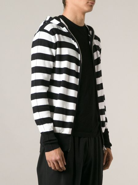 White and Black Horizontal Striped Hoodie: Forever 21 Striped Sweater