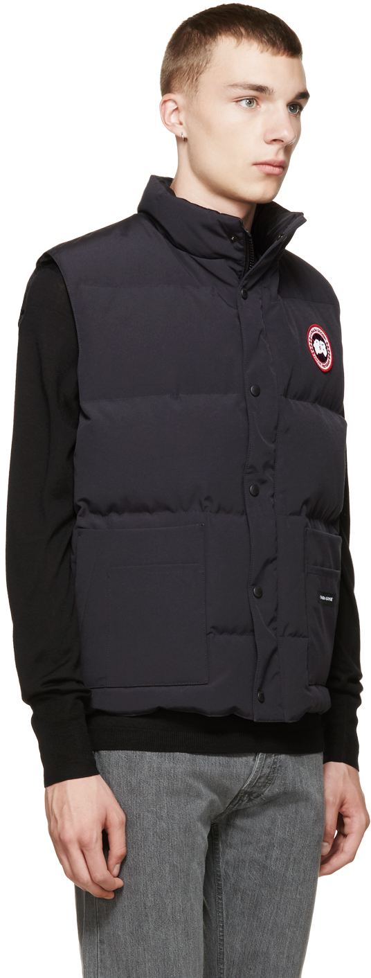 Canada Goose trillium parka outlet shop - Canada goose Navy Down Freestyle Vest in Blue for Men (navy) | Lyst