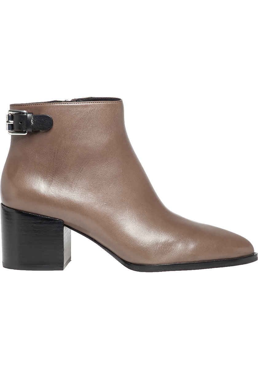 lyst michael michael kors saylor leather ankle boots in gray. Black Bedroom Furniture Sets. Home Design Ideas