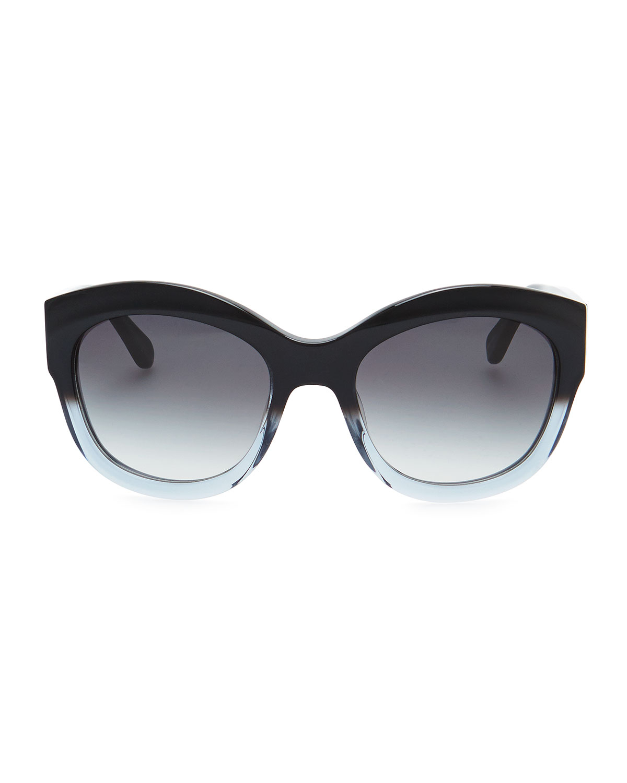 Kate spade Arianna Cateye Polarized Sunglasses Black ...
