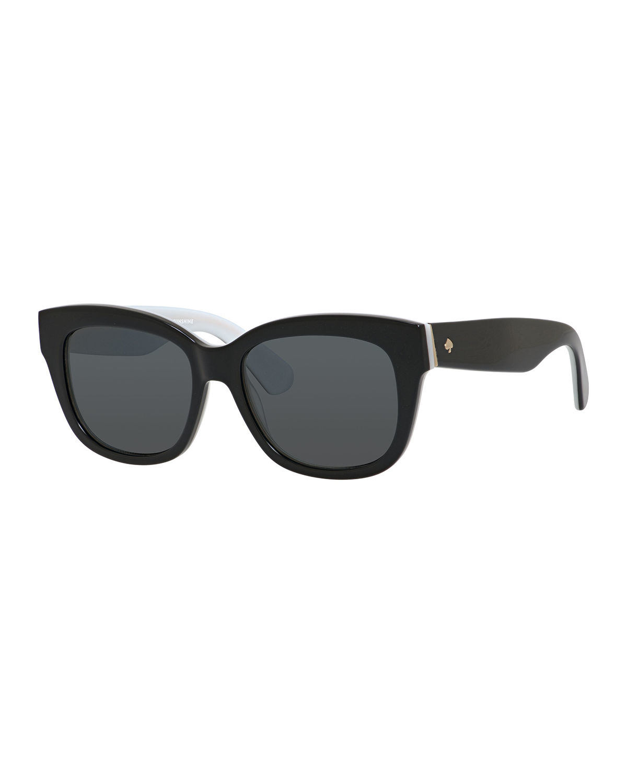 Kate spade Lorelle Square Sunglasses in Black | Lyst