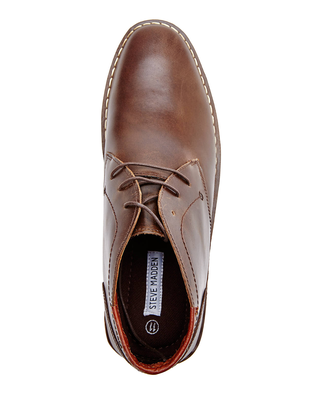 steve madden brown hestonn chukka boots in brown for