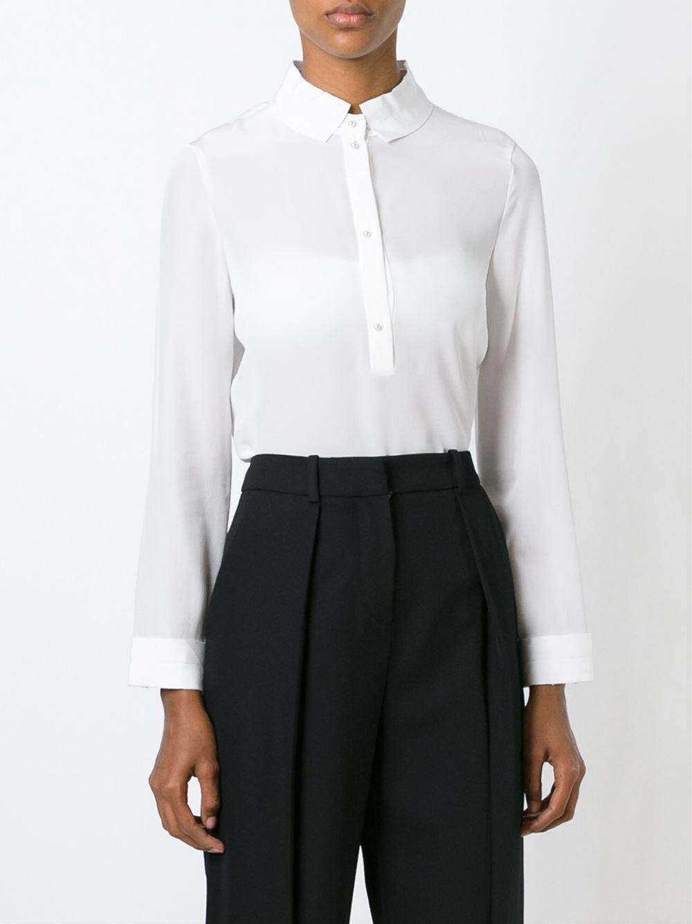 Armani White Silk Blouse