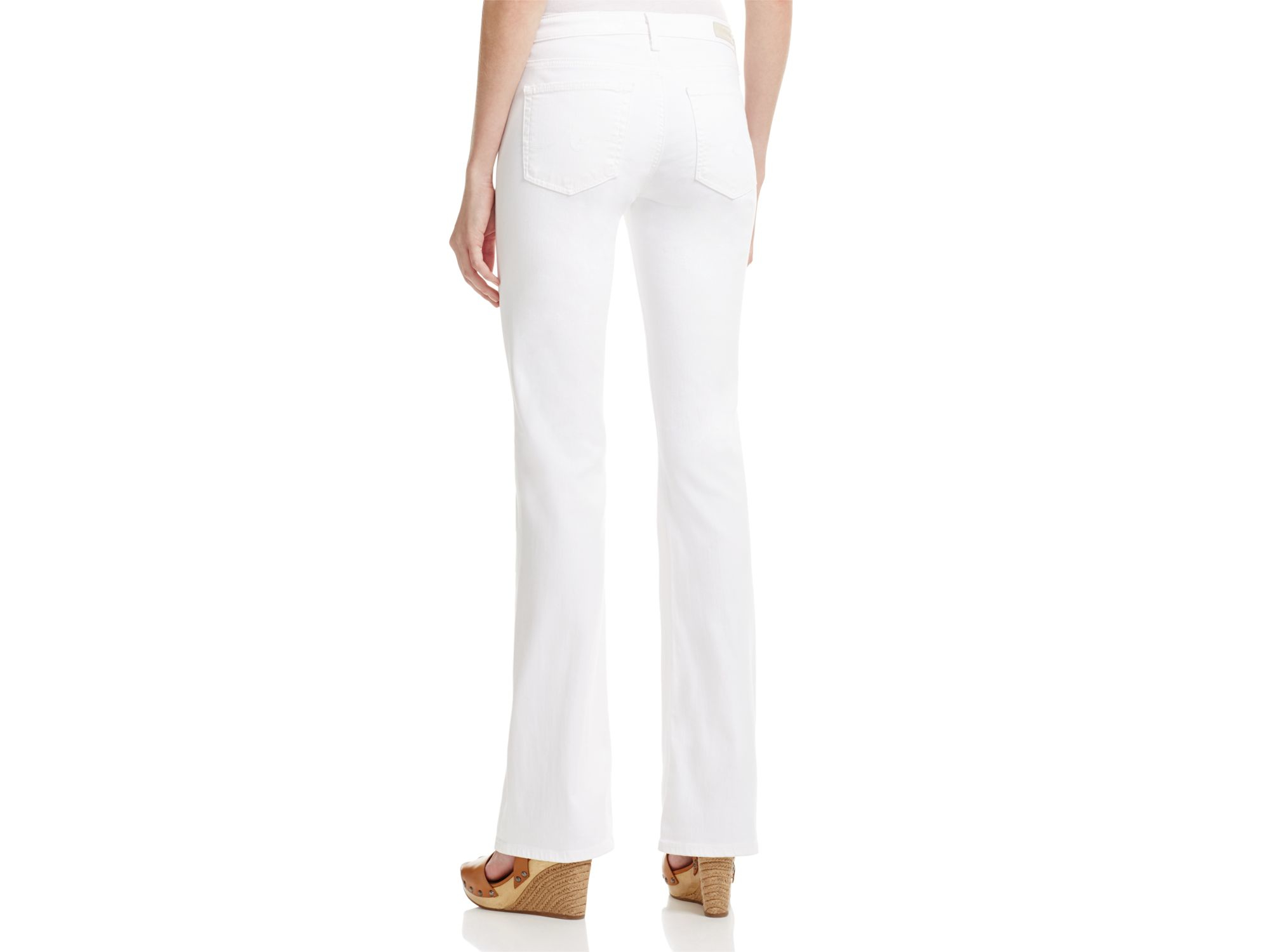AG Jeans Denim Angel Bootcut Jeans In White