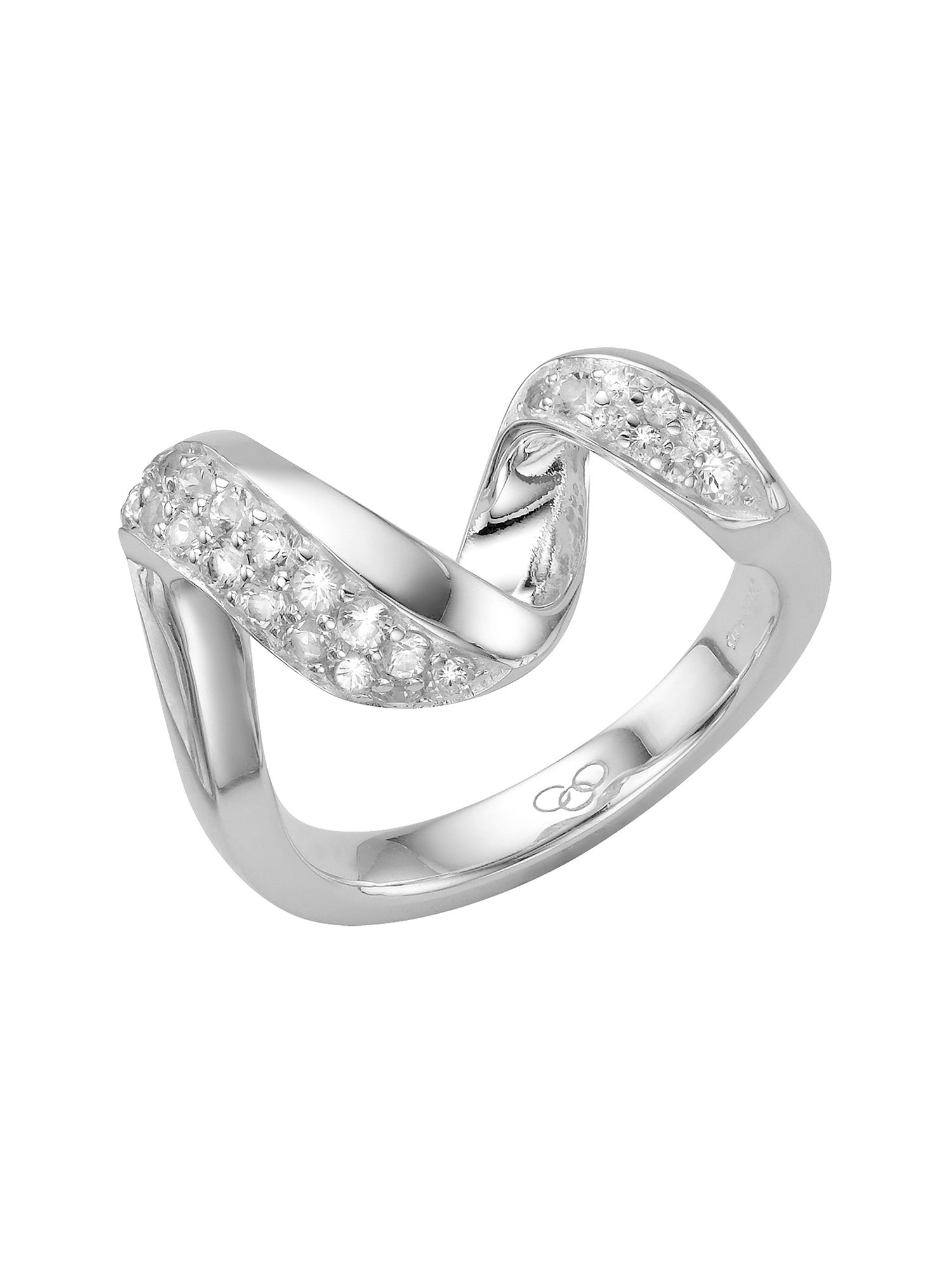 Links of London Entwine Ring with White Sapphire in Silver (Metallic)