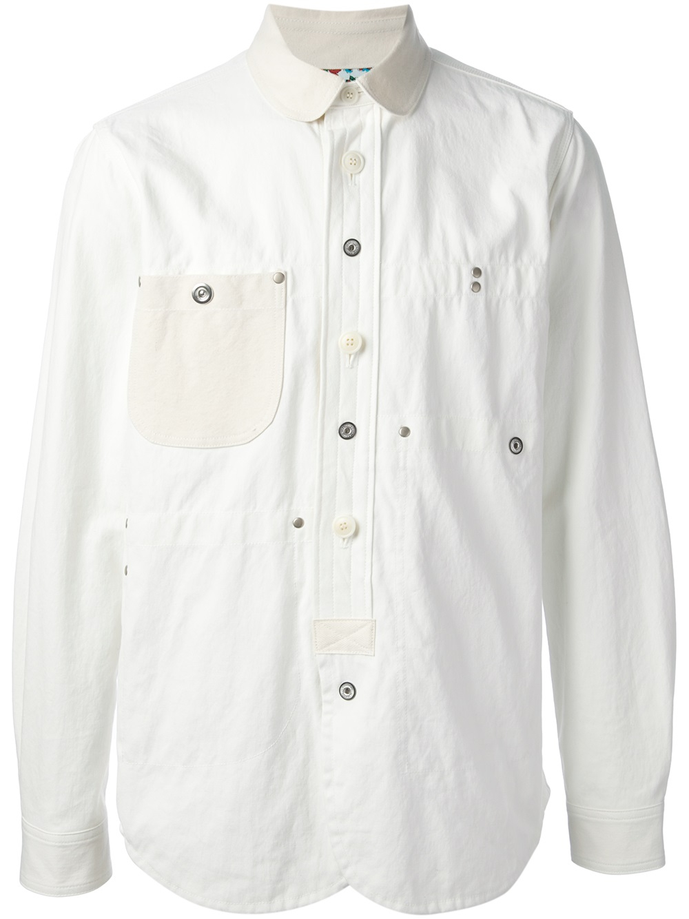 Junya watanabe Denim Shirt Jacket in White for Men | Lyst