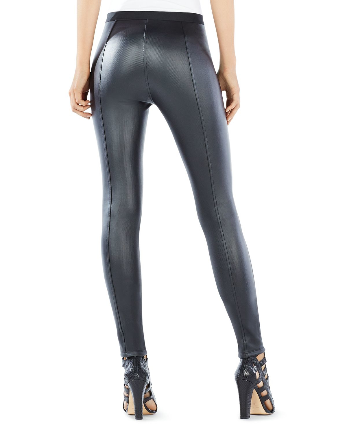 d1939e433ed36 BCBGMAXAZRIA Faux Leather Leggings in Black - Lyst