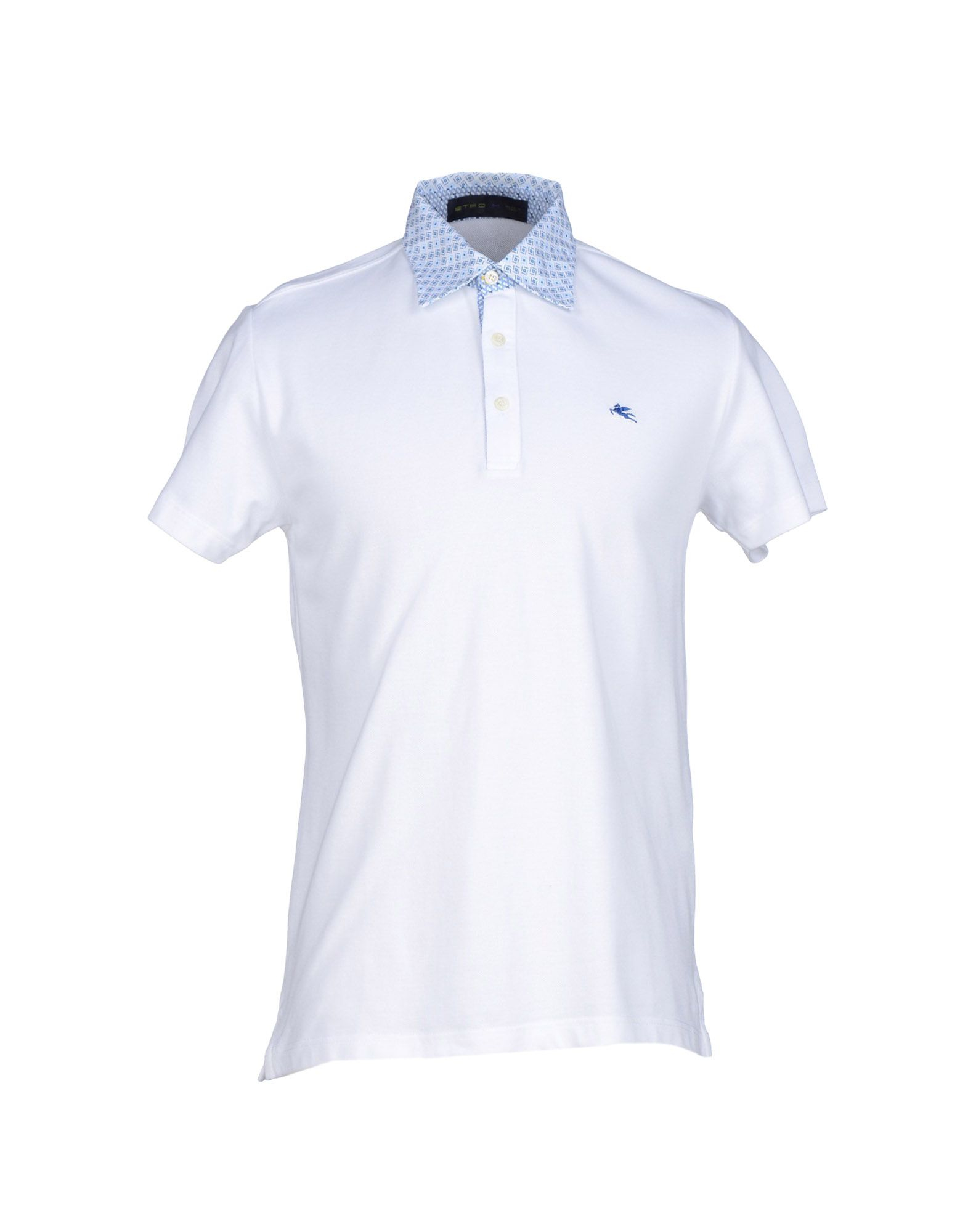 Lyst etro polo shirt in white for men for Etro men s shirts