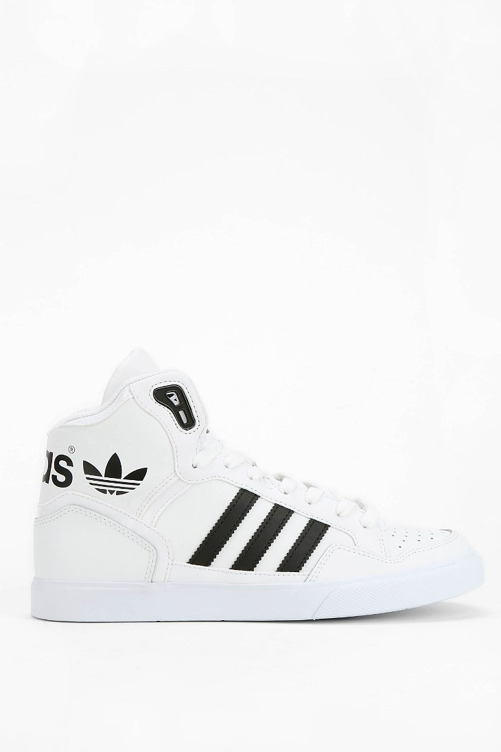 adidas Originals Extaball Leather Hightop Sneaker in White - Lyst