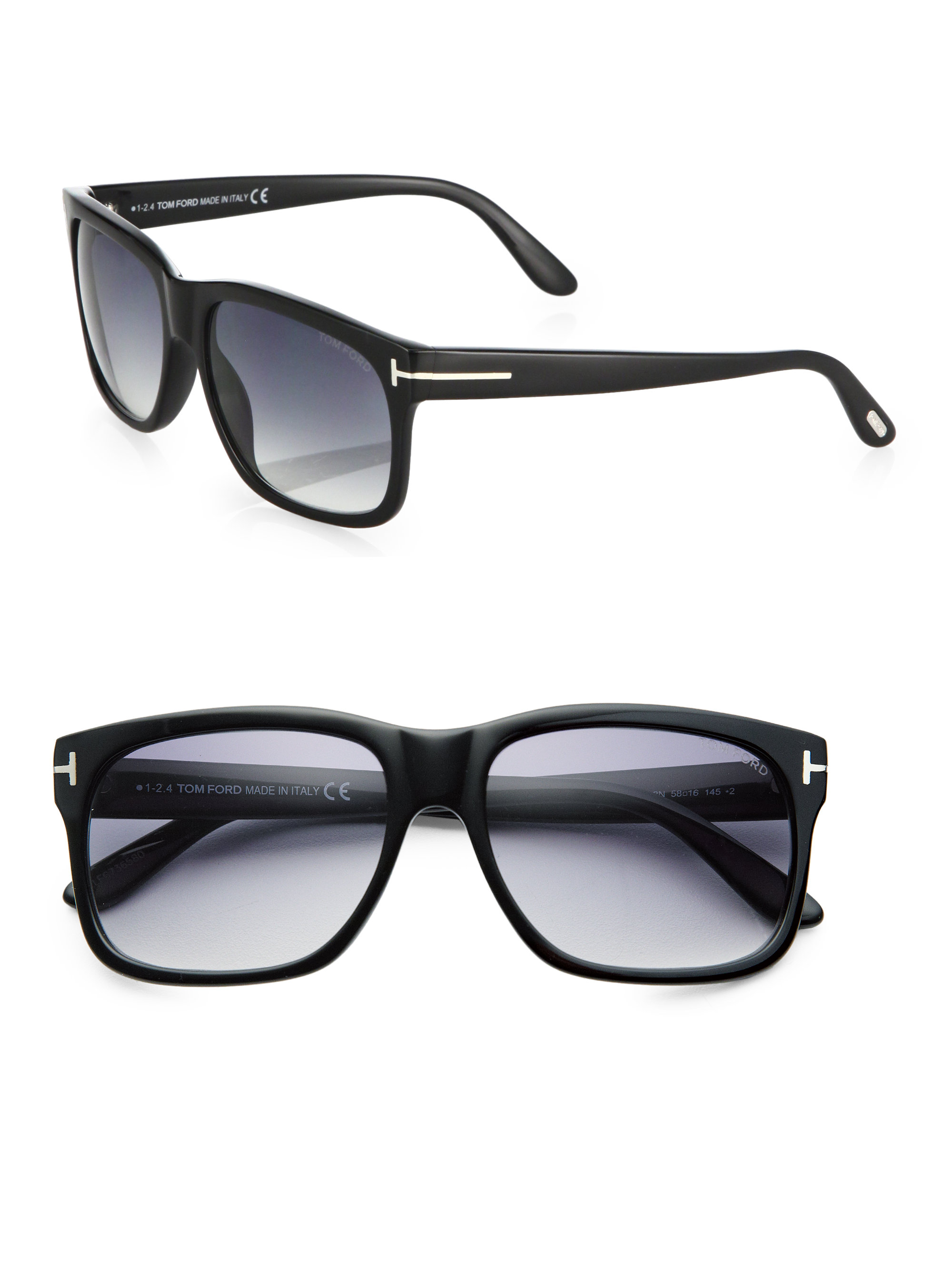 0716ee9727ea Lyst - Tom Ford 58mm Square Sunglasses in Black