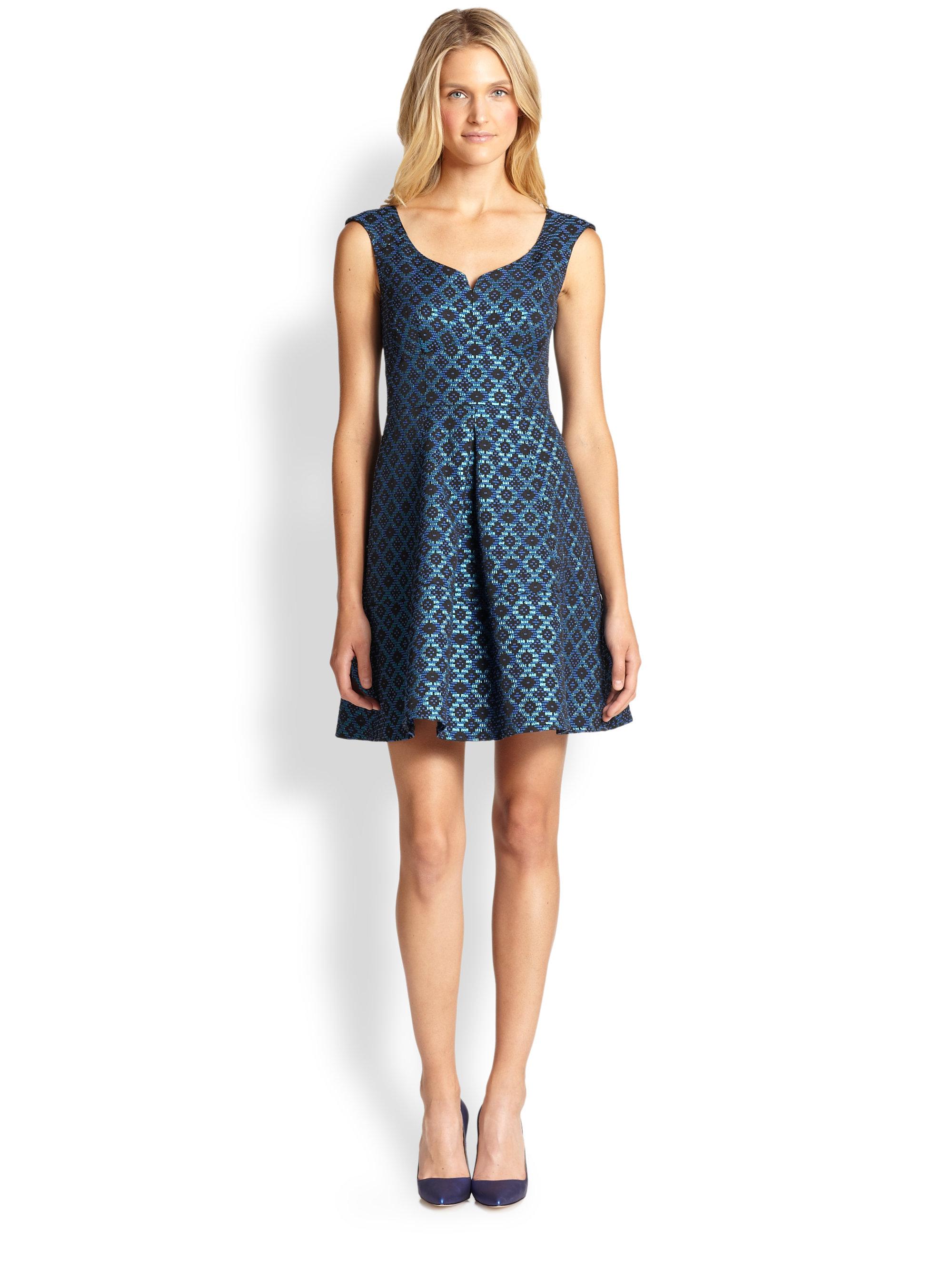 Nanette lepore Magic Trick Dress in Blue  Lyst