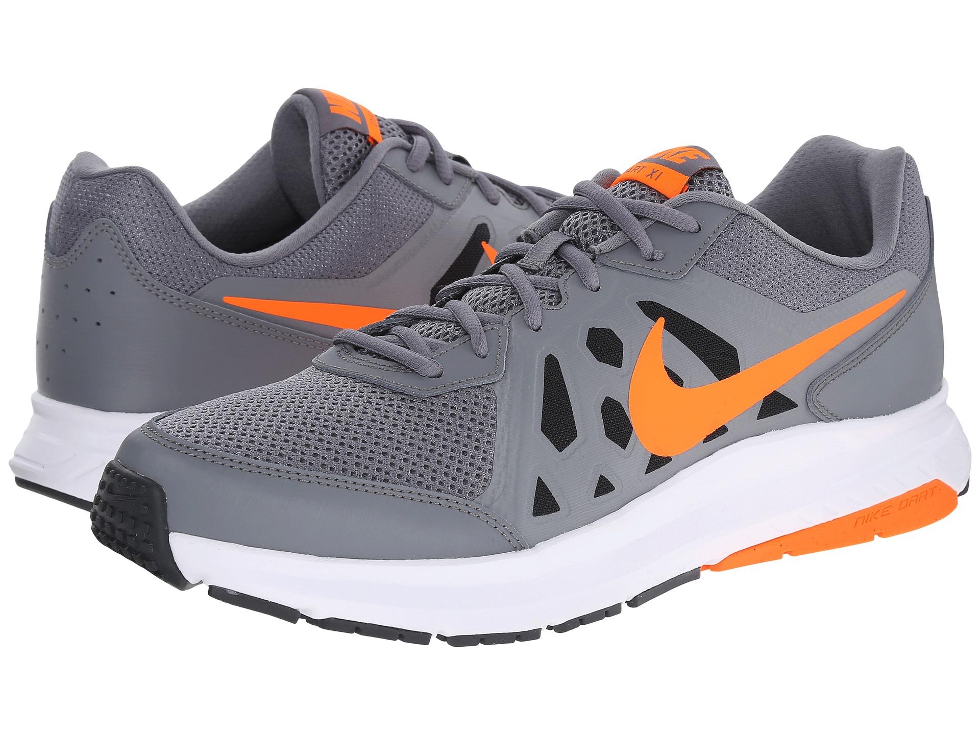 Nike Dart 11 In Orange For Men Cool Grey Dark Grey White